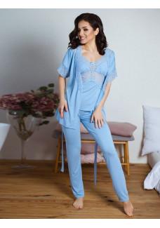 Пижама тройка (майка, штаны, жакет) ТР-М-1 незабудка