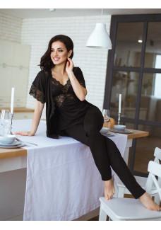 Пижама тройка (майка, штаны, жакет) ТР-М-1 черный