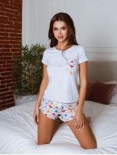 Пижама П-М-100 (сердечки)