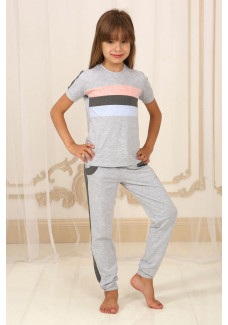 Детский костюм серый меланж ДК-М-8